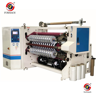 FR-218BF Double-shaft Slitting Rewinding Machine for Aluminum Foil Tape With Liner (FURIMACH)